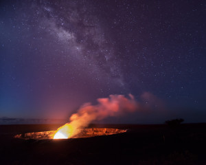 First Light Over Kilauea Caldera
